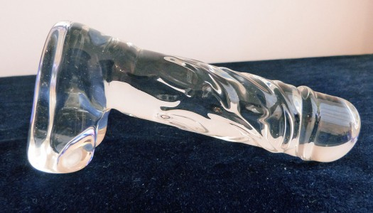 Icicles No. 40 Realistic Clear Glass Dildo