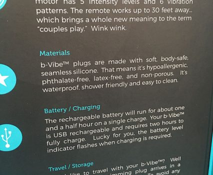 BVibe Remote Controlled Rimming Butt Plug